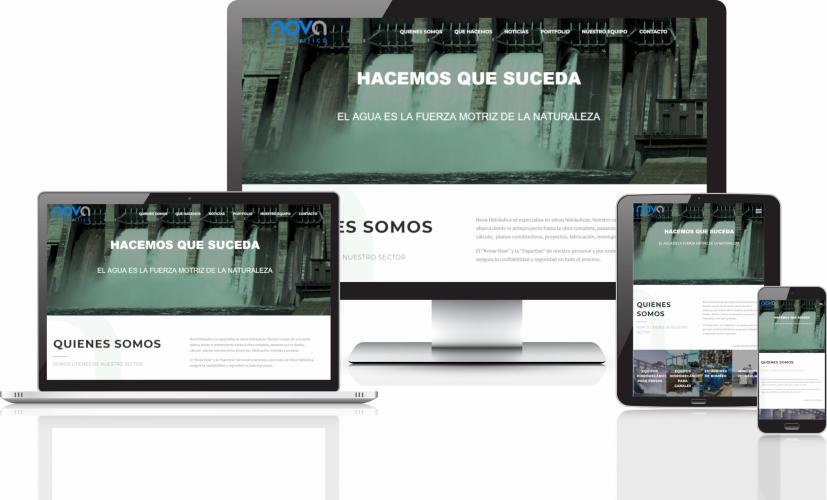 IMAGEN CORPORATIVA Y WEB NOVA HIDRAULICA