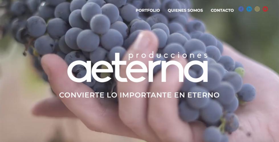 WEB AETERNA PRODUCCIONES